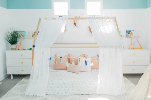Where can I get curtains for over a house bed?