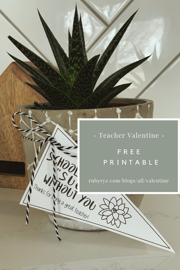 Free Valentine Printable for Teacher