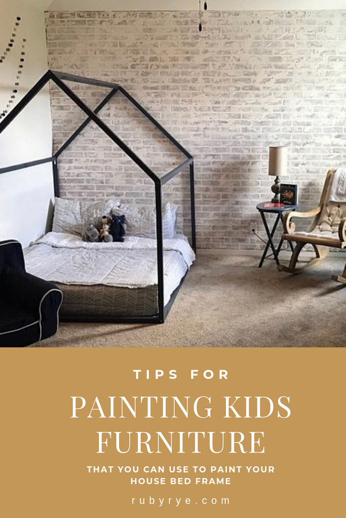 Painting Kids Furniture (Painting a House Bed frame)
