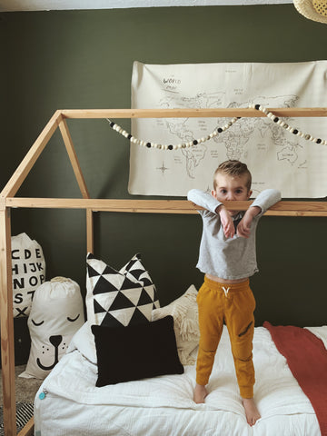 earthy kids bedroom