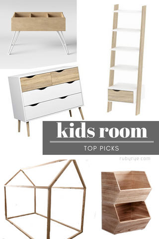 Kids room furniture picks form ruby and rye
