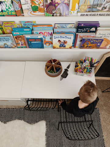 Kids desk with book shelves