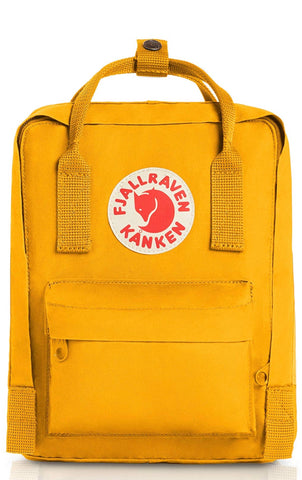 Fjallraven yellow backpack