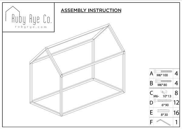 ruby rye co house bed instructions