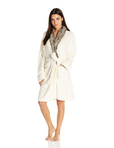 Plus Faux Fur Robe
