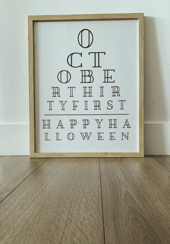 Happy Halloween Black and White Printable