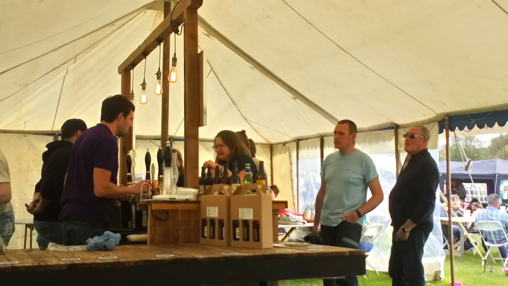Beermats Pop-Up Bar at Kedlestone Hall for the Derbyshire Food and Drink Fair