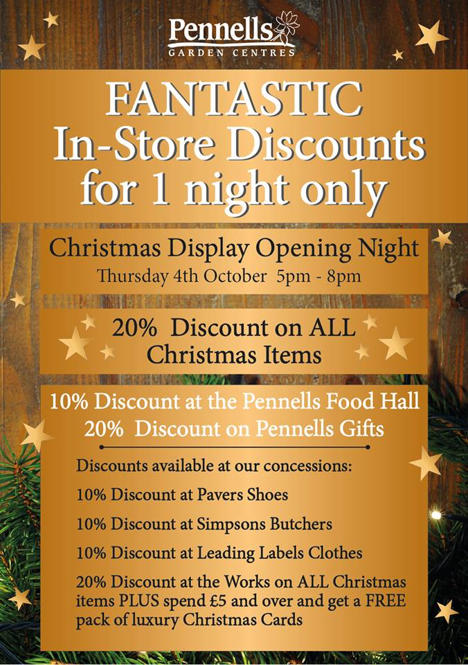 Christmas Display Launch at Pennells Garden Centre