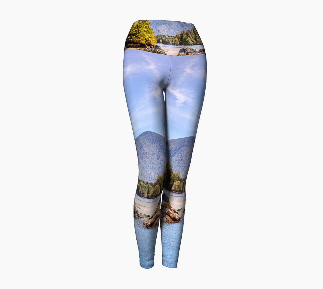 Tofino Inlet SW Luxury Yoga Leggings  Photography, Artwork & Graphic Design by Roxy Hurtubise  Fabric Made, Printed and Sewn by Hand in Canada! Made especially for YOU upon ordering and ships in 7 to 14 business days.  Selective prints available in the Scarlett Woman Shoppe, 60 Cavan Street, Nanaimo, BC. Please call for your VIP viewing and fitting….250-248-0566
