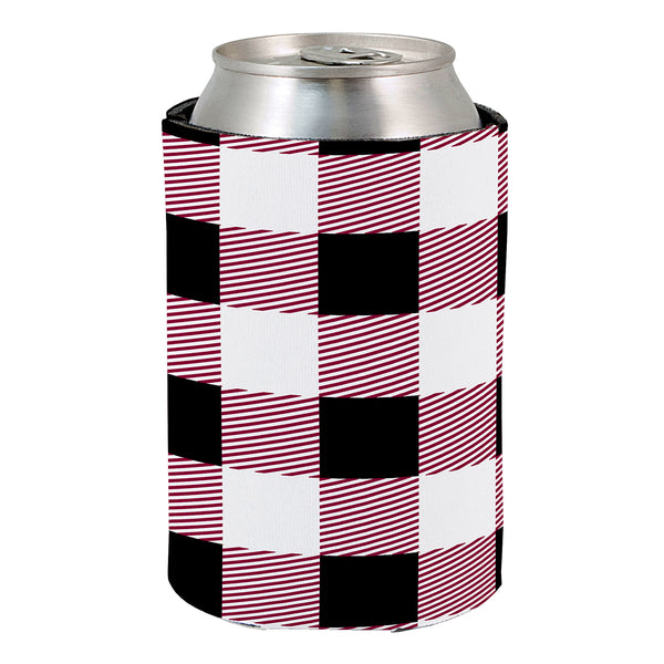 USC Plaid Revesible Koozie