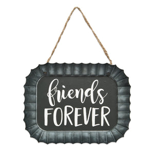 Friends Forever Fluted Tin Sign