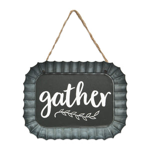 Gather Fluted Tin Sign