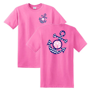 Anchor Chevron Monogrammed T-Shirt