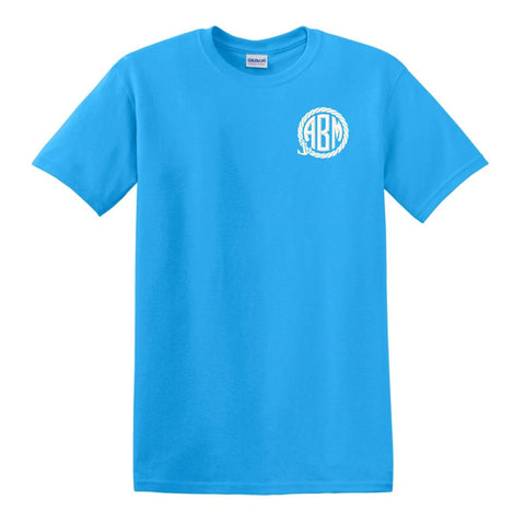 Anchor Rope Embroidered Monogrammed T-Shirt