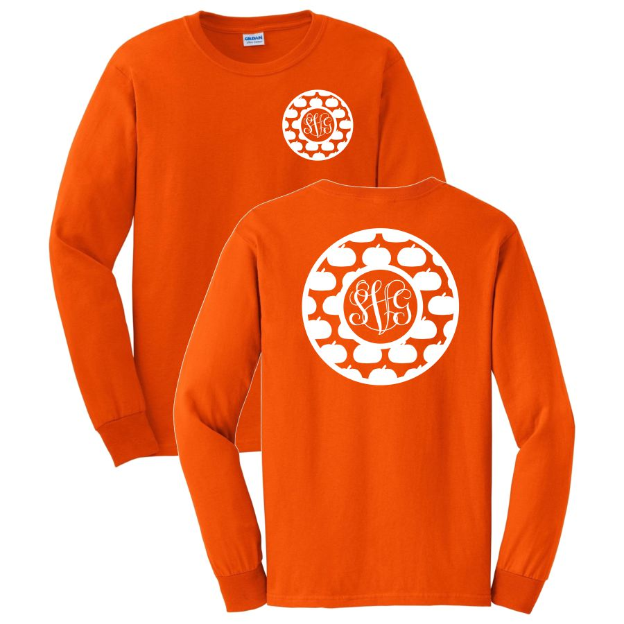 Circle Pumpkin Long Sleeve Shirt