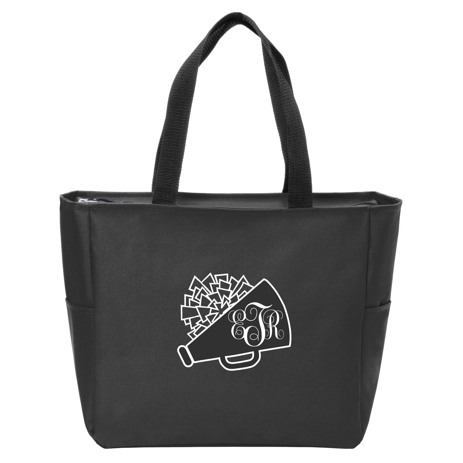 Cheerleading Monogrammed Zip Tote