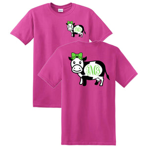 Cow Monogrammed T-Shirt
