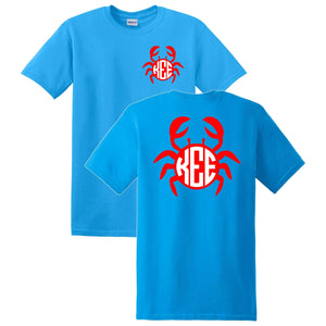 Crab Monogrammed T-Shirt