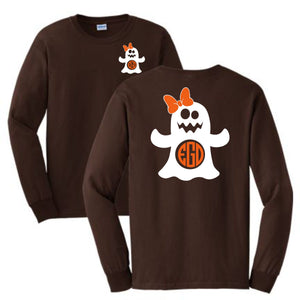 Ghost with Ribbon Long Sleeve Shirt
