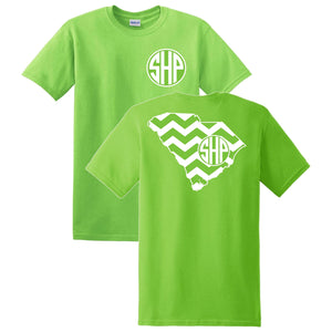South Carolina Chevron Monogrammed T-Shirt