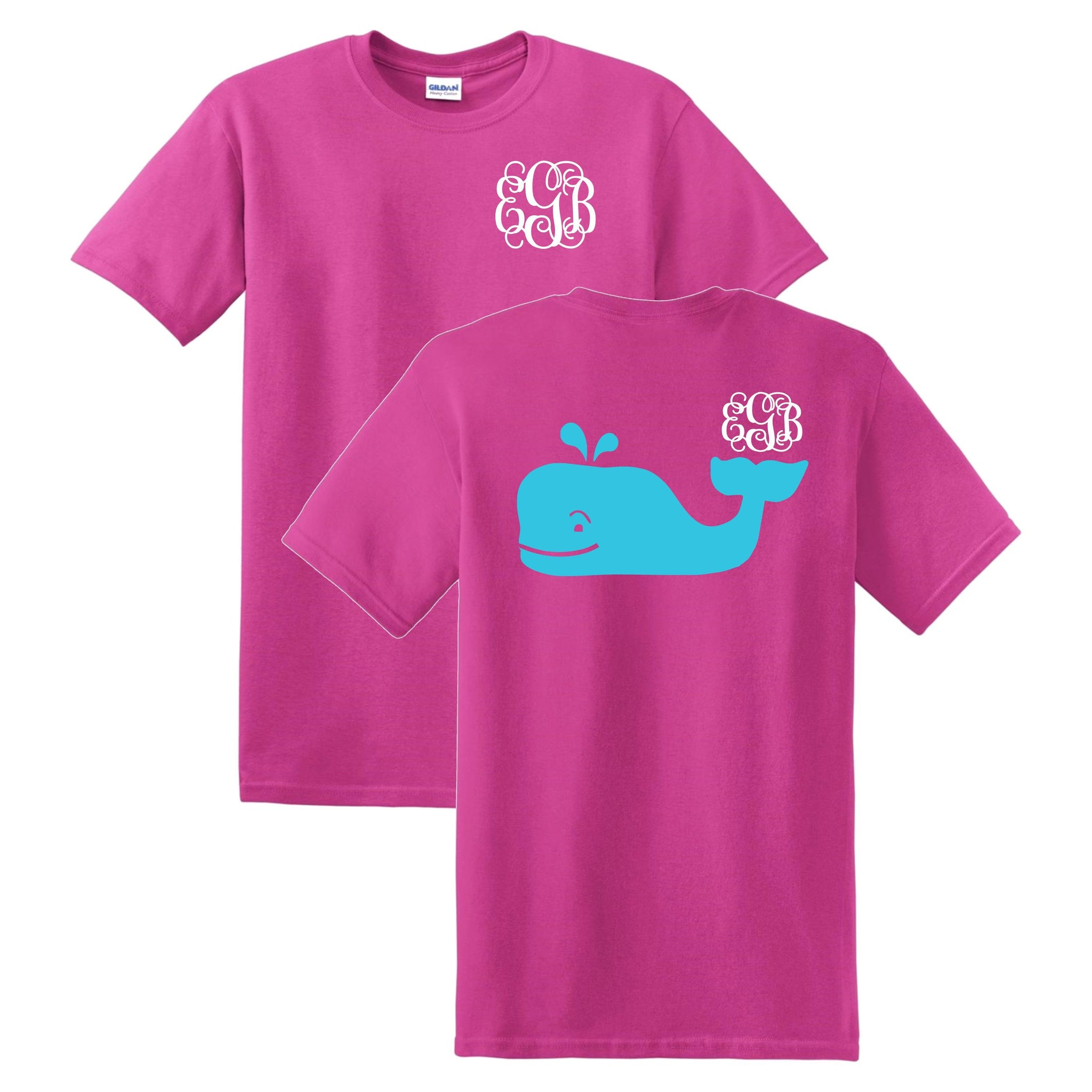 Whale Monogrammed T-Shirt