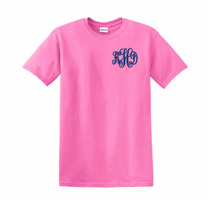 Embroidered Monogrammed T-Shirt