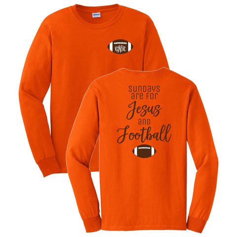 Jesus and Football Long Sleeve Shirt
