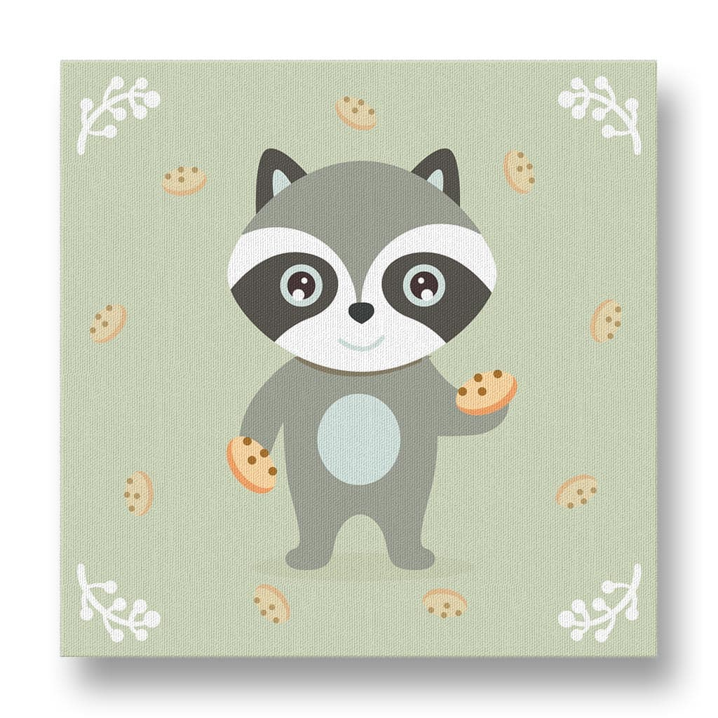 Friendly Raccoon Canvas Print