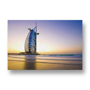 Burj Al Arab Canvas Print in Colour