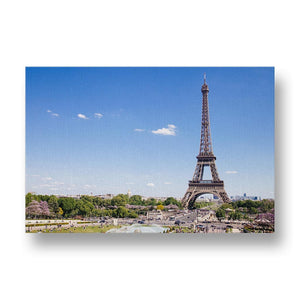 Eiffel Tower with Blue Sky Canvas Print in Colour