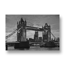 Tower Bridge at Night Canvas Print in Black and White