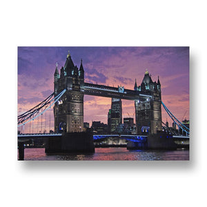 Tower Bridge at Night Canvas Print in Colour