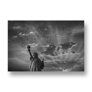 Statue of Liberty Canvas Print in Black and White