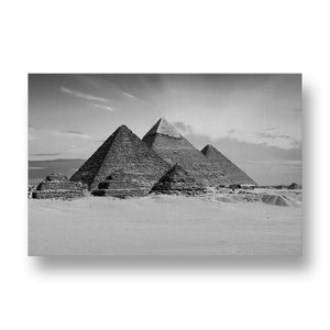 Egyptian Pyramids Canvas Print in Black and White