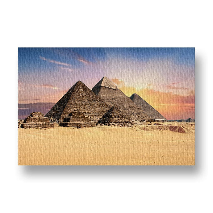 Egyptian Pyramids Canvas Print in Colour