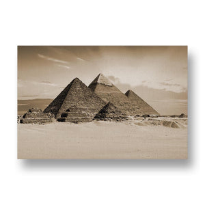 Egyptian Pyramids Canvas Print in Sepia