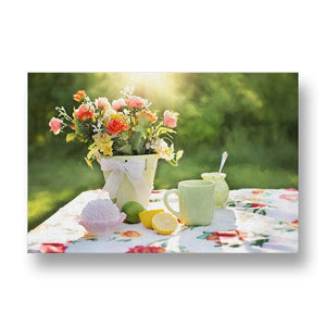 Summer Flowers Still Life Canvas Print in Colour