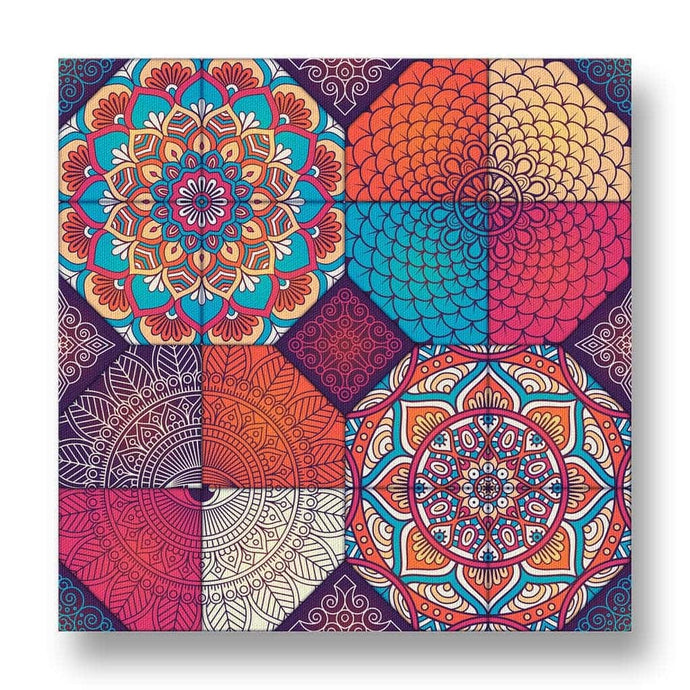 Boho Pattern Canvas Print in Colour