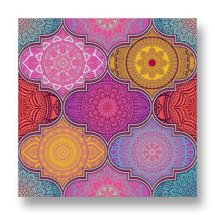 Ethnic Pattern Canvas Print in Colour