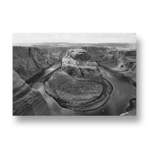 Glen Canyon Canvas Print in Black and White