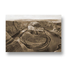Glen Canyon Canvas Print in Sepia