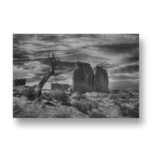 Desert Scene from Bryce Canyon Canvas Print in Black and White
