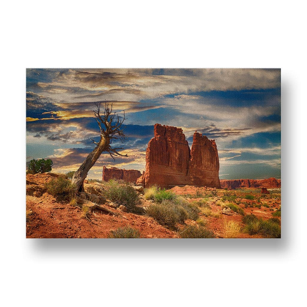 Desert Scene from Bryce Canyon Canvas Print in Colour
