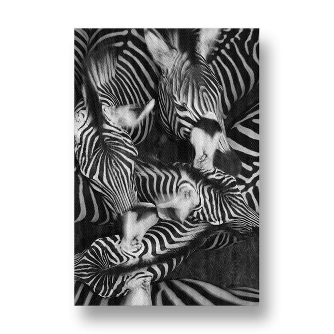 Zebra Collage Canvas Print