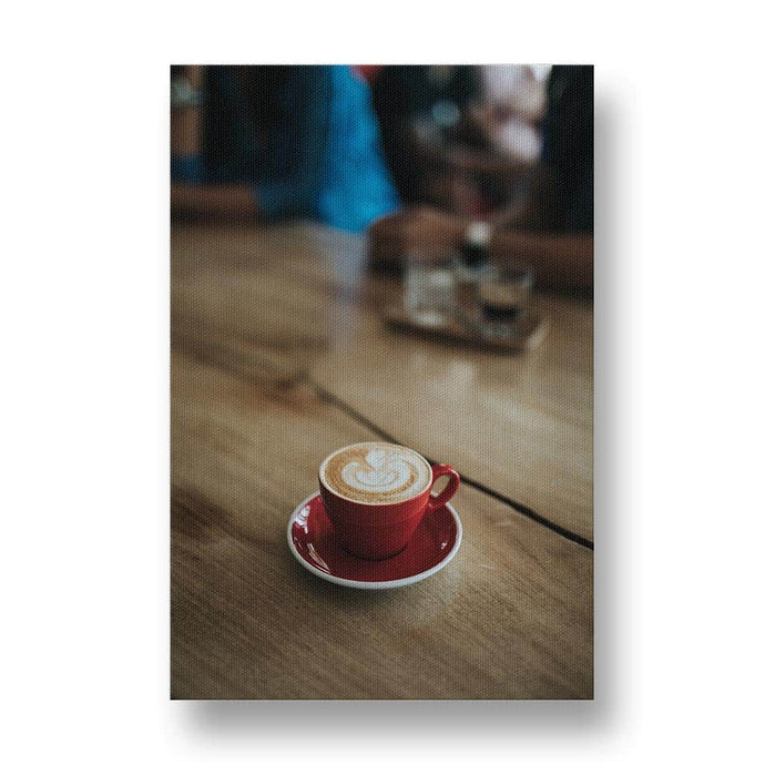 Red Cup of Coffee Canvas Print