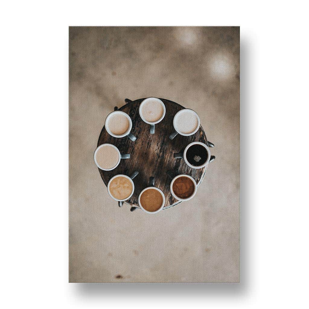 Coffee Shades Canvas Print