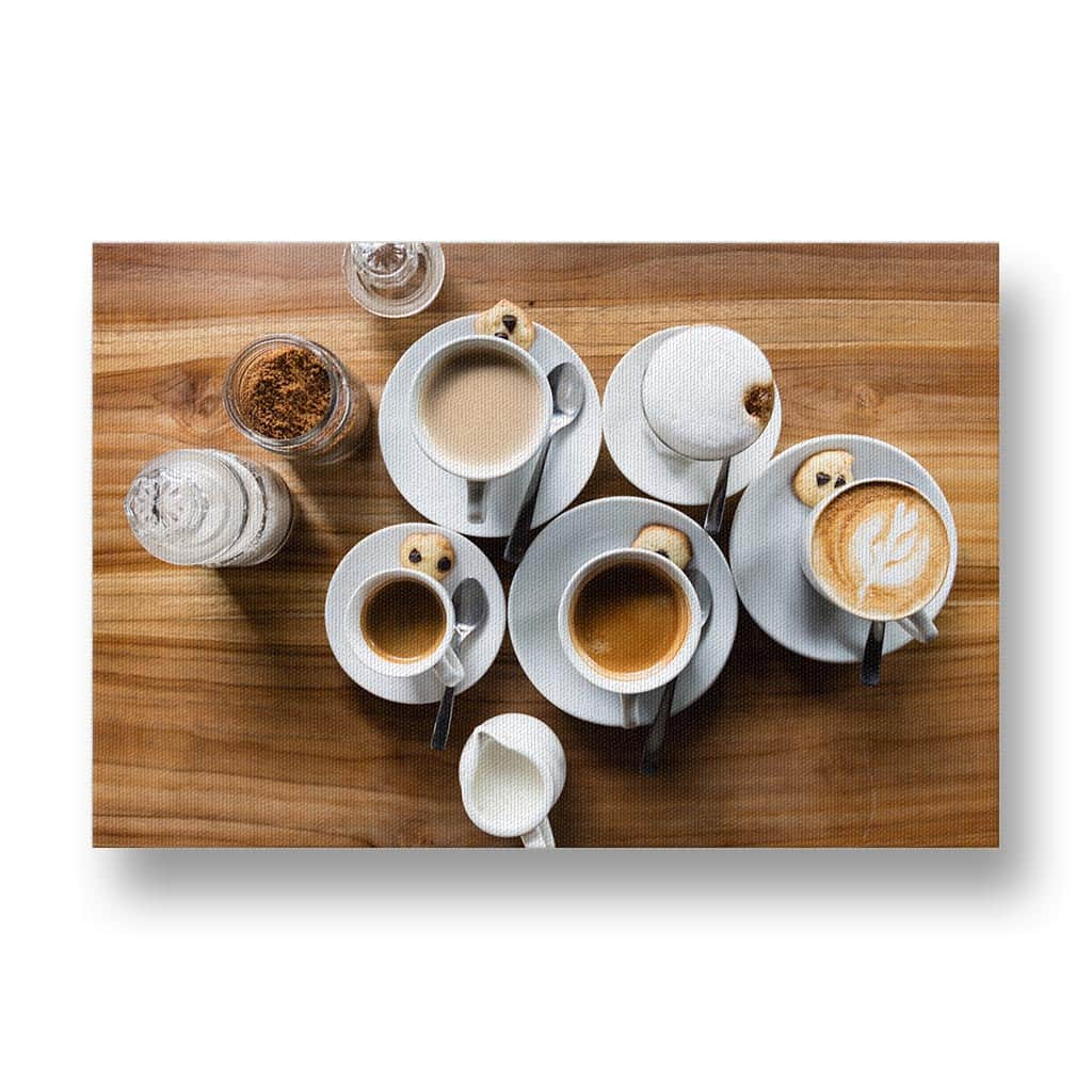 Assortment of Coffees Canvas Print
