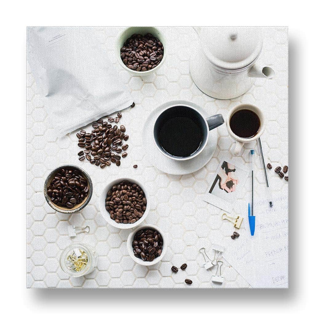 Coffee Beans and Notes Canvas Print