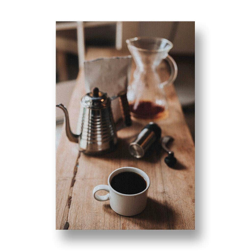 The Joy of Coffee Canvas Print