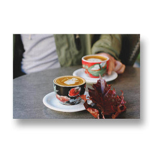 Coffee in Colourful Cups Canvas Print